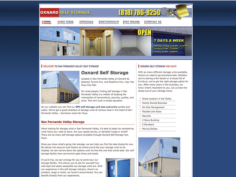 Oxnard Self Storage Van Nuys